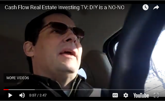 Cash Flow Real Estate Investing: DIY is a No-No