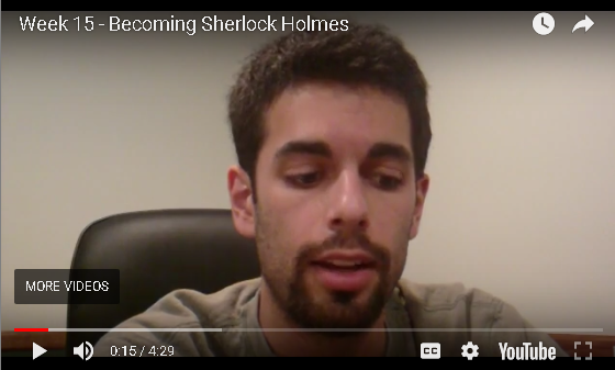 Jesse B - Becoming Sherlock Homes