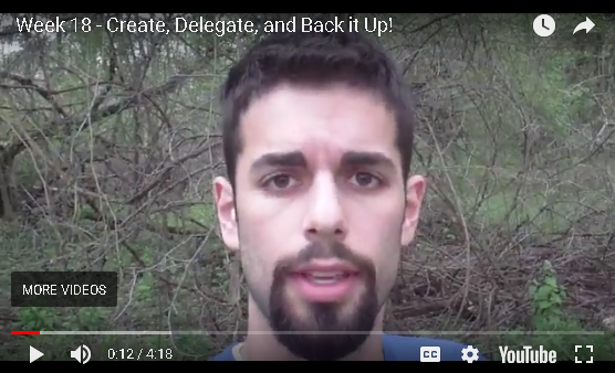 Jesse B - Create, Delegate and Back It Up!