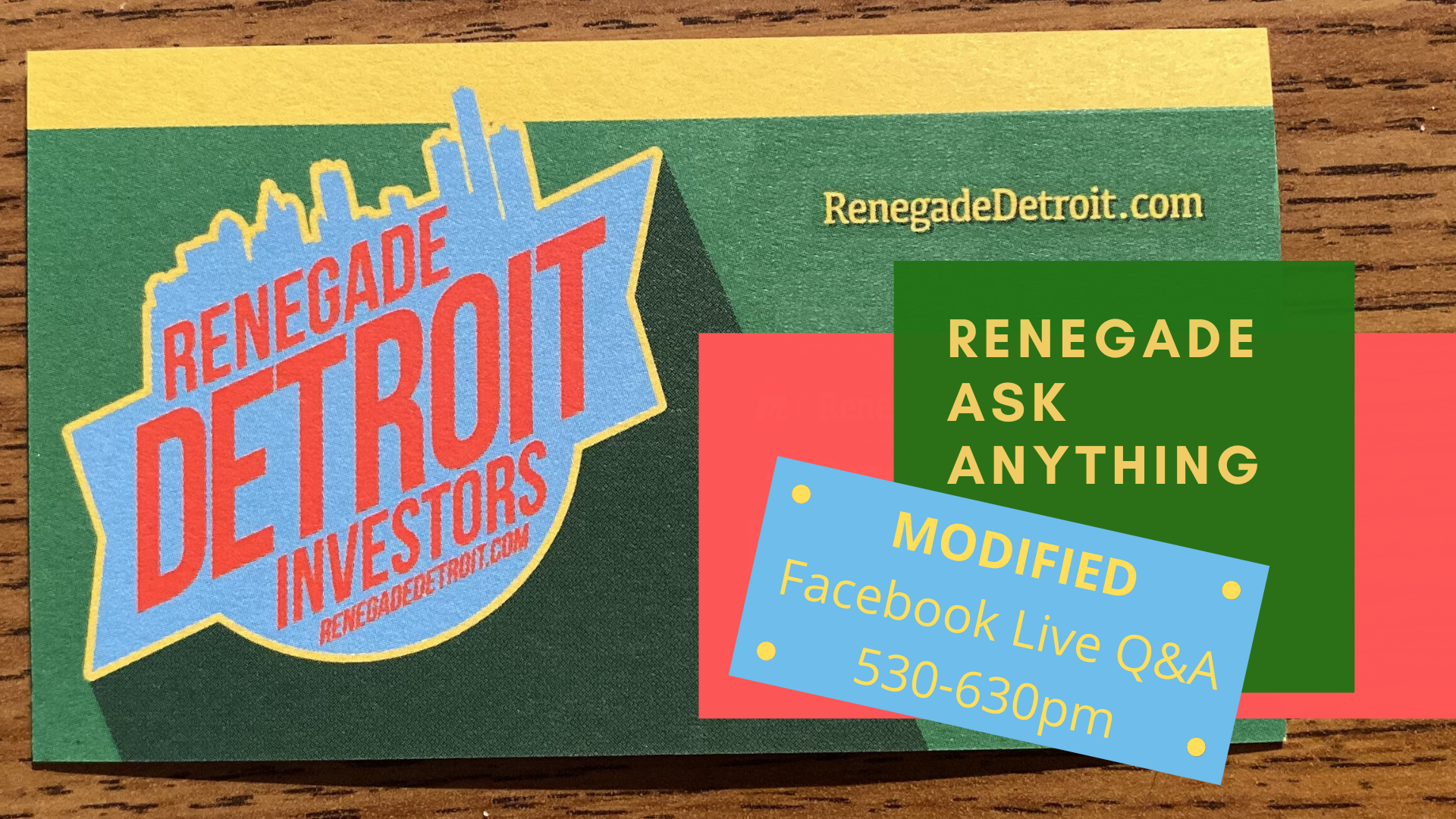 MODIFIED: Renegade Facebook LIVE Ask Anything March Modified 2020