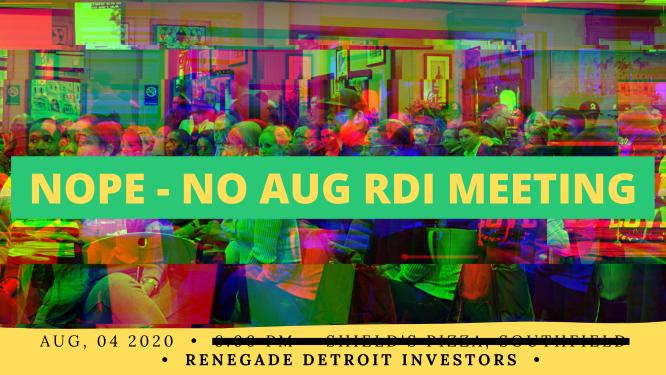 Nope - No RDI Meeting Aug 2020